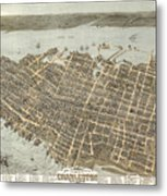 Birds Eye View Of Charleston Metal Print