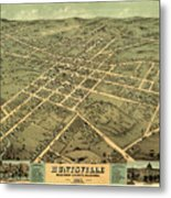 Bird's Eye View Of The City Of Huntsville, Madison County, Alabama 1871 Metal Print