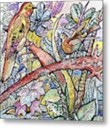 Birds For Louise #3 Metal Print