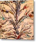 Birds In A Tree Metal Print