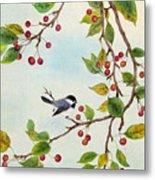Birds In Autumn Season Metal Print
