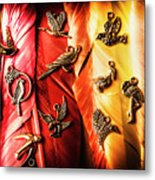 Birds Of A Decor Feather Metal Print