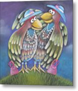 Birds Of A Feather Stick Together Metal Print