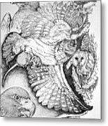 Birds Of Prey Collage One Metal Print