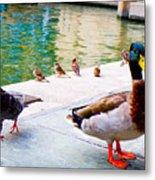 Birds Of The River Metal Print