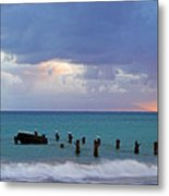 Birds On Old Jetty- St Lucia Metal Print