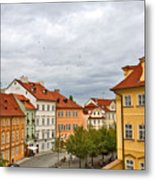 Birds Over Prague Metal Print