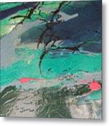 Birds Over The Sea Metal Print