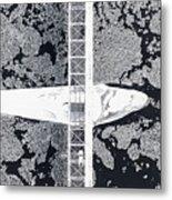 Birdseye View Of Bridge Metal Print