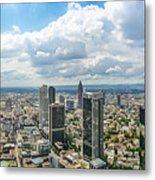 Birdview Of Frankfurt Am Main Metal Print