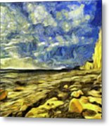 Birling Gap And Seven Sisters Art Metal Print