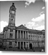 Birmingham Museum And Art Gallery With Clock Tower On Chamberlain Square Uk Metal Print