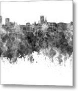 Birmingham Skyline In Black Watercolor On White Background Metal Print