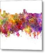 Birmingham Skyline In Watercolor On White Background Metal Print