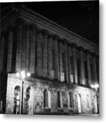 Birmingham Town Hall In The City Centre At Night England Uk Metal Print