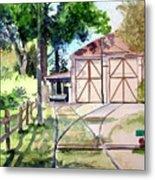 Birney Trolley Barn Metal Print
