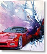 Birth Of A Corvette Metal Print
