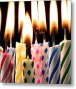 Birthday Candles Metal Print