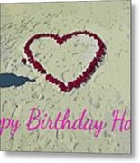 Birthday Card For Lover Metal Print