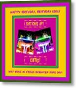 Birthday Girl's Birthday Wishes Metal Print