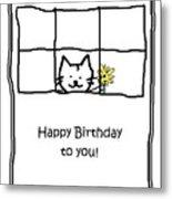 Birthday Greeting Card Metal Print