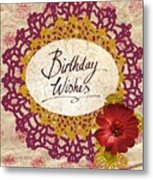 Birthday Wishes Metal Print