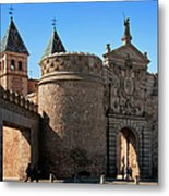 Bisagra Gate Toledo Spain Metal Print by Joan Carroll