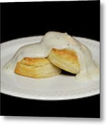 Biscuits And Gravy Metal Print