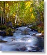 Bishop Creek In Fall Eastern Sierra Photograph Metal Print
