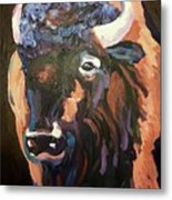 Bison At Dusk Metal Print