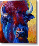 Bison Boss Metal Print