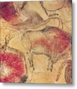 Bisons From The Caves At Altamira Metal Print