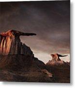 Bisti Badlands, New Mexico, Usa Metal Print