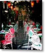 Bistro Chairs Metal Print