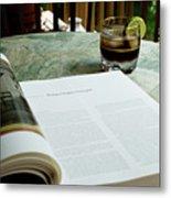 Bistro Table Study, Balcony Garden, Hunter Hill, Hagerstown, Mar Metal Print