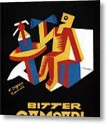 Bitter Campari - Aperitivo - Vintage Beer Advertising Poster Metal Print
