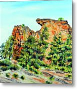 Bitterroot Cliffs Metal Print