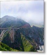 Bixby Bridge Fog Metal Print