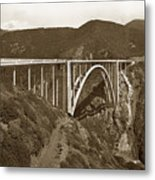Bixby Creek Aka Rainbow Bridge Bridge Big Sur Photo  1937 Metal Print