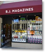 B.j. Magazines New York Metal Print