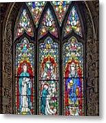 Black Abbey Window - Kilkenny - Ireland Metal Print