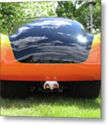 Black And Orange Henry J Metal Print