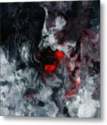 Black And Red Abstract Painting  Metal Print