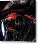 Black And Red Harley 5966 H_2 Metal Print