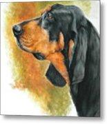 Black And Tan Coonhound Metal Print
