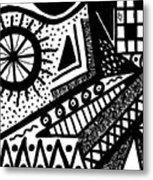 Black And White 15 Metal Print