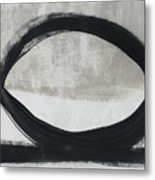 Black And White Abstract 2- Art By Linda Woods Metal Print