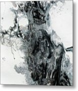 Black And White Abstract Painting  Metal Print