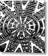 Black And White Abstracts Metal Print