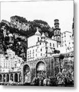 Black And White Amalfi Metal Print